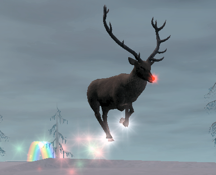Real rudolph the red nosed reindeer flying - photo#18
