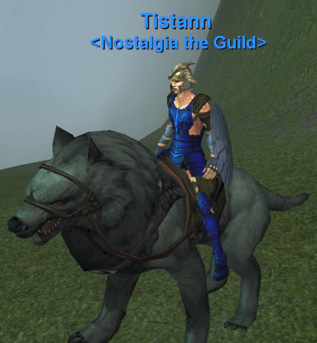 Tistann, mounted and looking for trouble