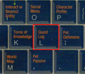 "Most developers agree, the quest log should be mapped to ""L"""