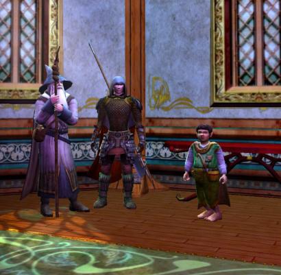Gandalf, Tistann, and Frodo