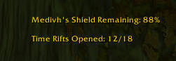 Rift Count and Shield Status