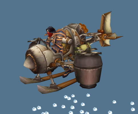 Edwin VanCleef in a gyrocopter