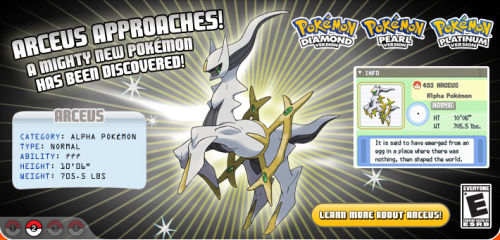 Arceus is Coming!