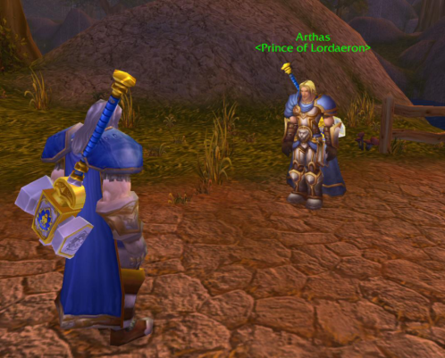 Arthas not listening to his elders