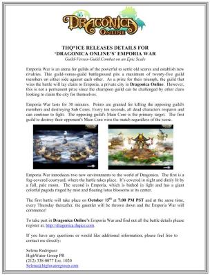 Emporia War Press Release