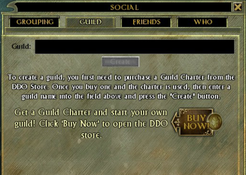 Buy a guild now!