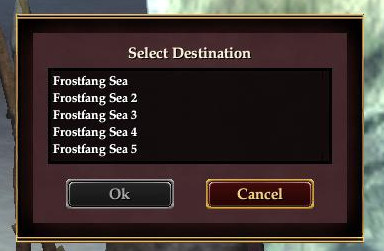 Many versions of the Frostfang Sea