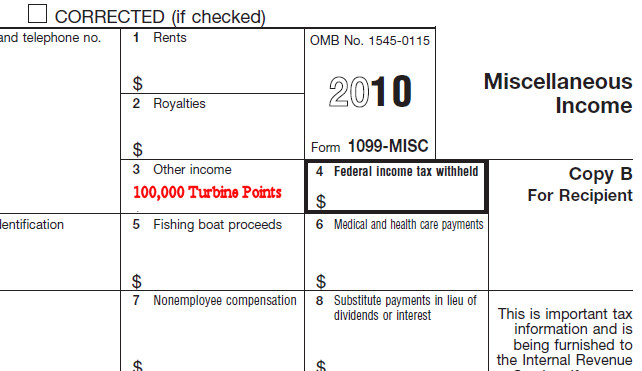 1099 misc filled out