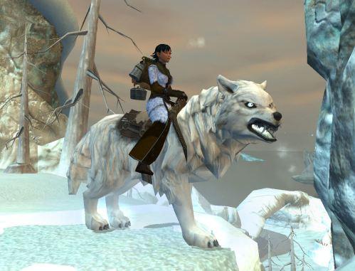 Ice Wolf on Ice