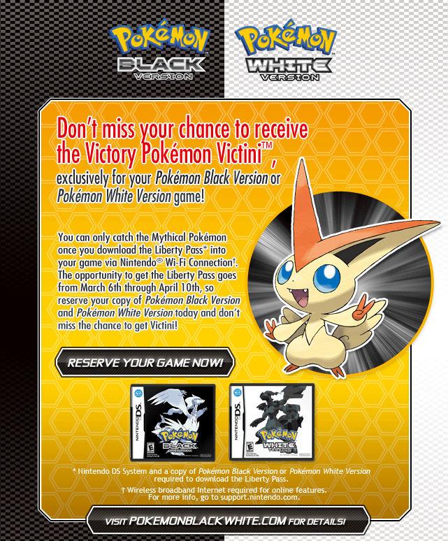 First Pokemon Black and White Download Event - Victini