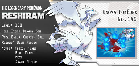 Reshiram and Zekrom Download Event for Pokemon Black and White (3/3)