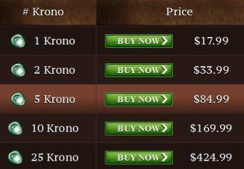 Krono Pricing