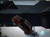 Hitting a golf cart