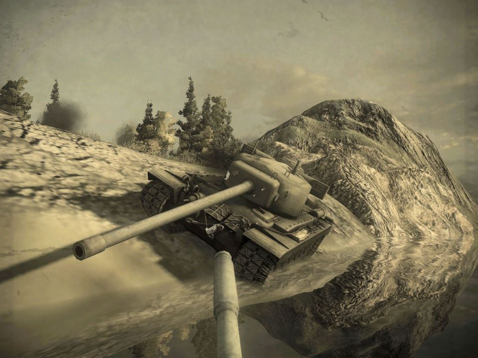 The T-29 admiring his work