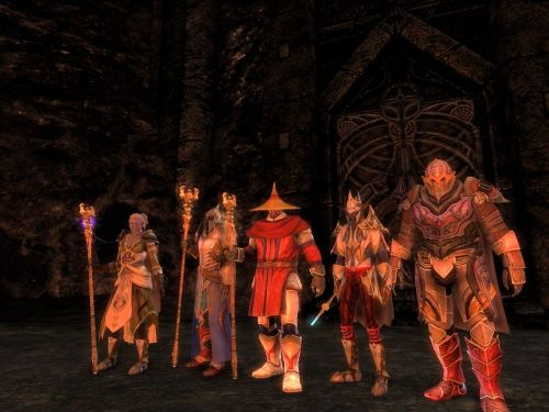 The instance group in lava light
