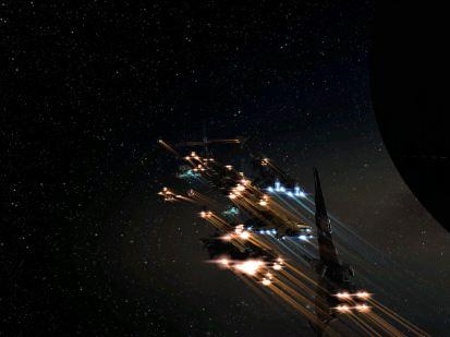 Homeland Defense Fleet Undocks