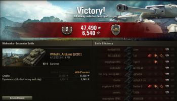First Battle in the KV-4