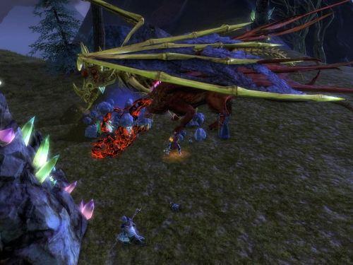 Dragons defending their eggs