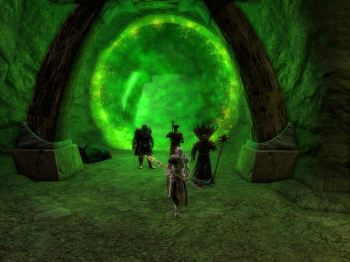 In through the green portal