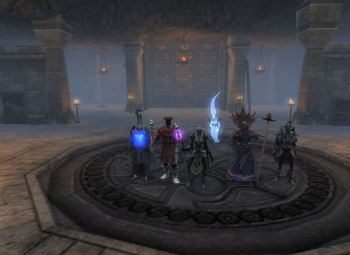 The group in General Grim's lair
