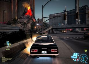 Racing down the strip