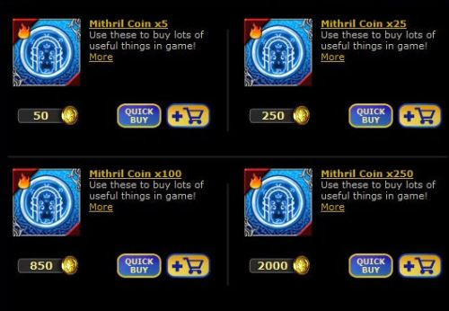 Buying Mithril Coins