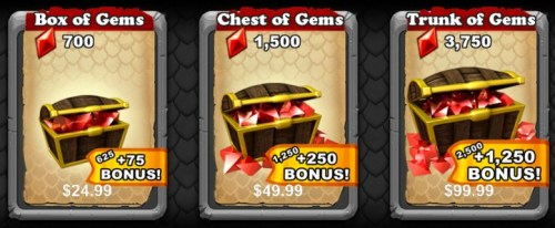 Gems! They Cost Money!
