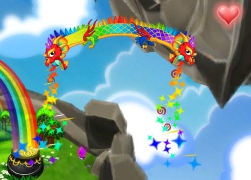 Double Rainbow Dragon Pukes Rainbows!