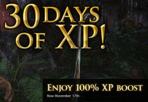 30 days of bonus XP!