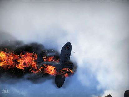 My P-26 going in flaming