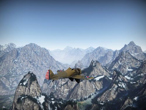 P-26 in flight