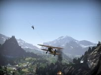 CR.42 chasing a bomber