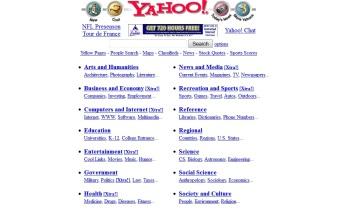 Yahoo, circa 1997