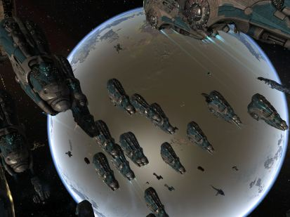 Domi Fleet and a planet