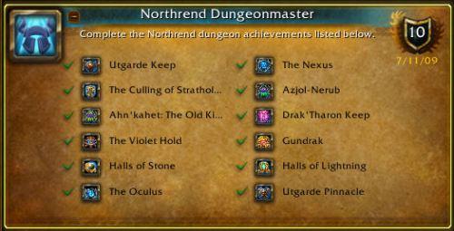 Northrend Dungeon Master Achievement