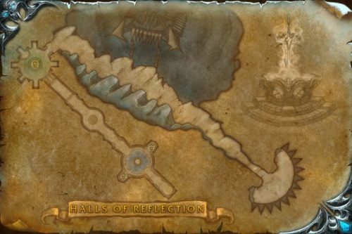 Third and final old map, Halls of Reflection