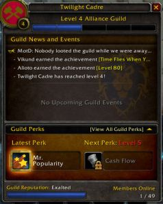Guild Level 4! Oh Boy!