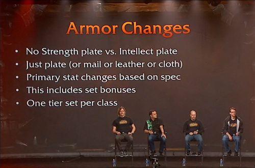 Armor stat change