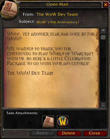 From the WoW team
