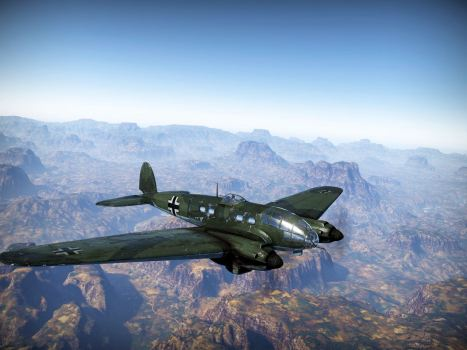 He-111 in flight
