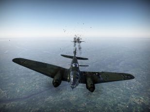 A Beaufighter chews up my He-111