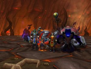 Four of us under Mount Hyjal