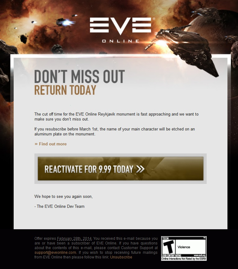 $10 Gets Your Character's Name on the EVE Online Monument
