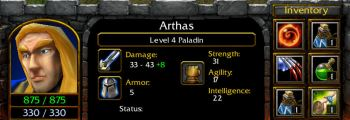 Arthas as a level 4 Paladin
