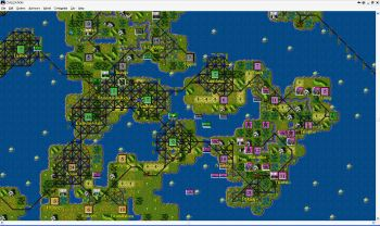 The flat world of original Civ