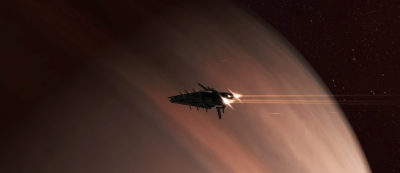 Hurricane transits a gas giant