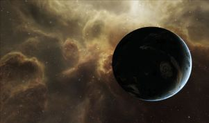 Moody, back lit planet