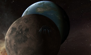 Drake approaching planetrise