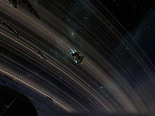 Aligned under planetary rings