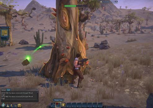 Chopping a tree